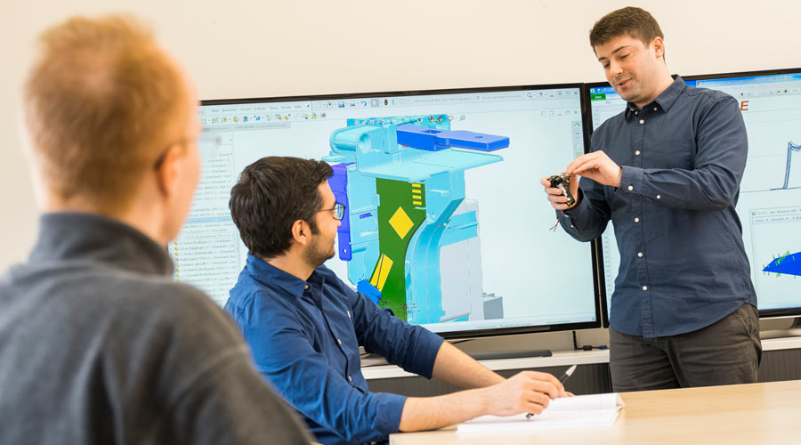 The team of engineers at EBE Elektro-Bau-Elemente GmbH in Leinfelden-Echterdingen employs agile and interdisciplinary cooperation and uses 3D CAD-systems, sampling and more