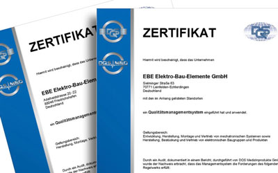 EBE independent certifications